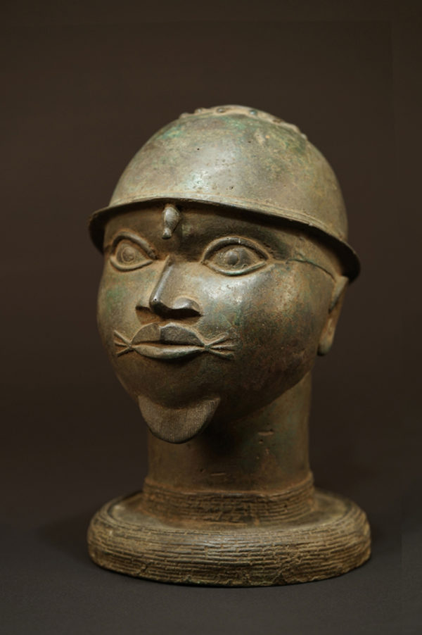 This striking Benin bronze head