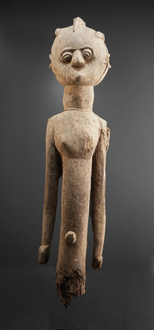 A fragmentary female Lobi sculpture