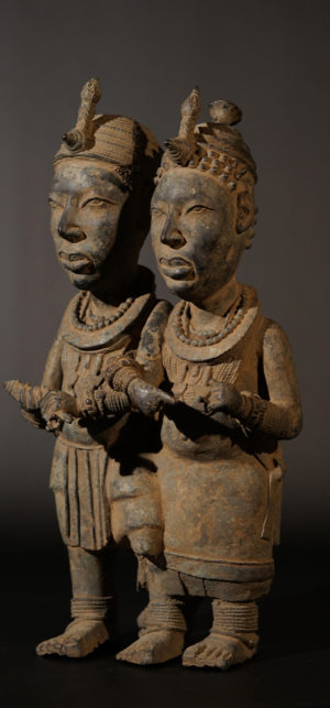 An Ife Bronze couple