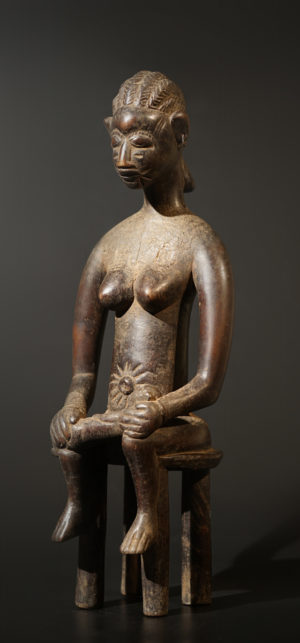 A female Senufo sculpture